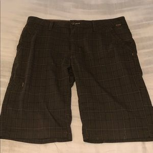 Prana brown plaid walk short sz34